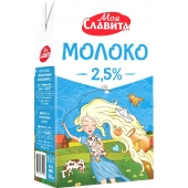 Молоко 2,5% 1л питне ультрапастеризоване Tetra Brik Aseptic ТМ Моя Славіта