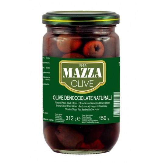 Оливки чорні без кісточки 300мл скло ТМ Mazza