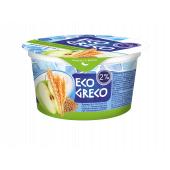 Йогурт Грецький Яблуко-Злаки-Льон 2% 130г ТМ Eco Greco