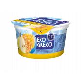Йогурт Грецький Груша-Мед-Злаки 2% 130г ТМ Eco Greco