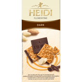 Шоколад Heidi темний з хрустким шаром карамелізованого мигдалю 100г