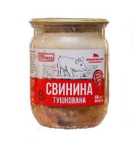 Консерва м'ясна 500г Свинина тушкована с/б