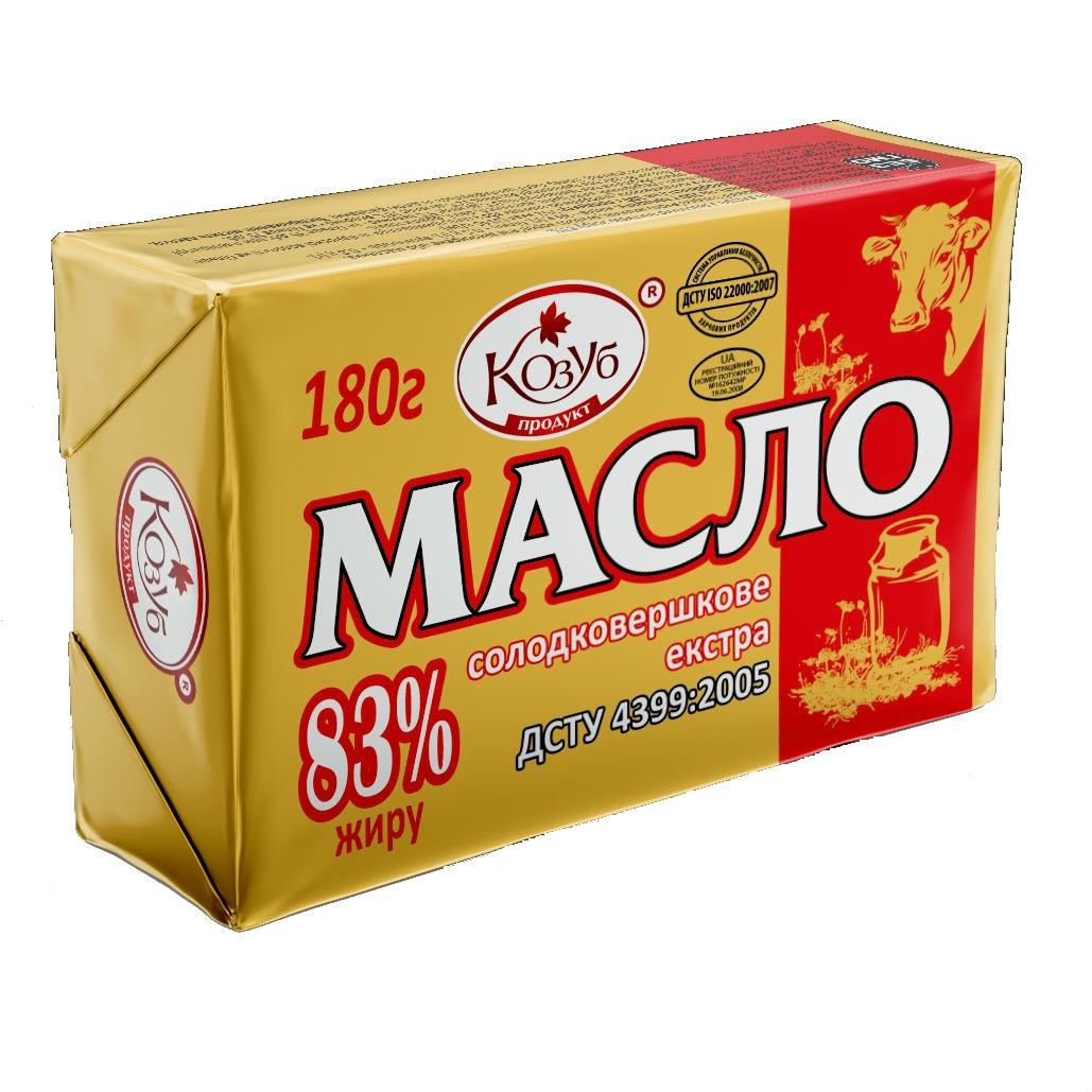 Масло с/в Екстра 83 % 180 г ТМ Козуб