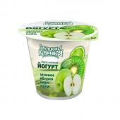 Йогурт двошаровий Яблуко-Ківі-Лайм 2% 150г ТМ Бабушкіна кринка