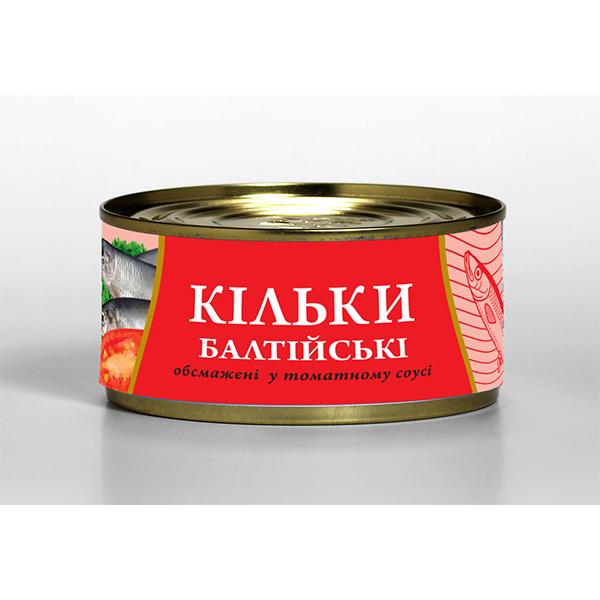 Кільки балтійські 240г обсмажені у томатному соусі Fish Line
