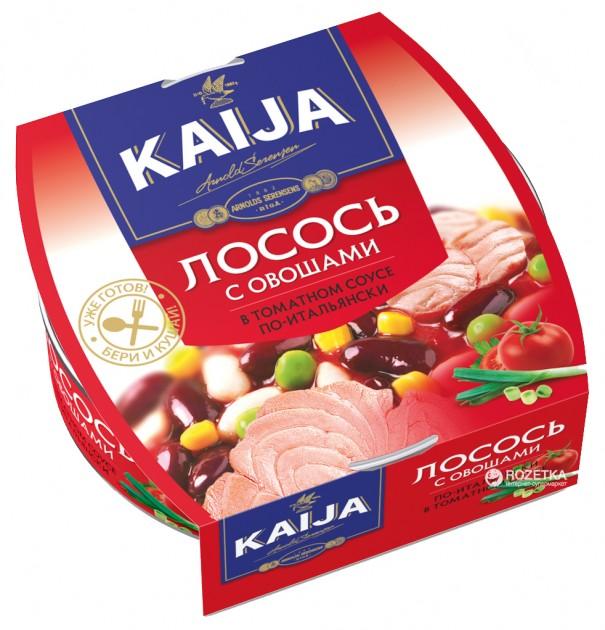 Лосось з овочами по-італійськи в томатному соусі 220г ТМ Kaija