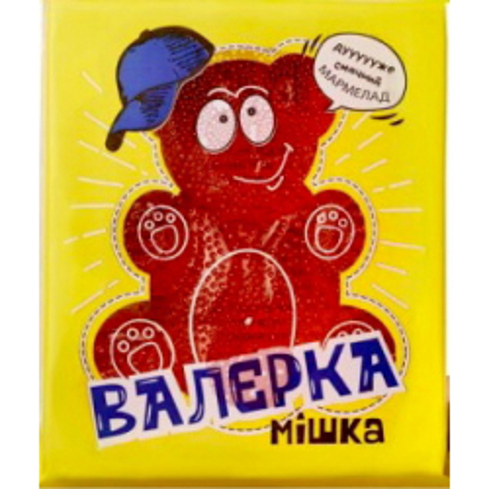 Мармелад з цукром Мішка Валєрка Полуниця 100г