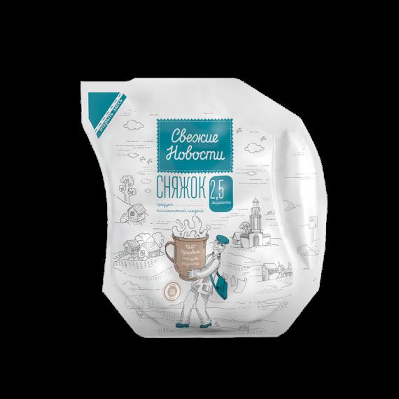 Продукт кисломолочний Сняжок 2,5% 500г ТМ Свєжіє Новості