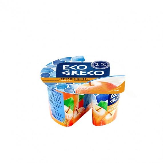 Йогурт Грецький печене яблуко 2% 130г ТМ Eco Greco
