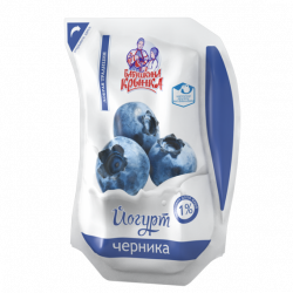 Йогурт Чорниця 1% 800г ТМ Бабушкіна кринка