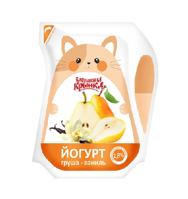 Йогурт Груша-Ваніль 2,8% 200г  ТМ Бабушкіна кринка