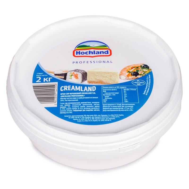 Сир вершковий CREAMLAND 2 кг ТМ Hochland